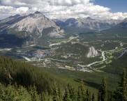 Blick vom Sulfur Mountain
