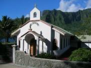 Malerische Kapelle auf Tahiti