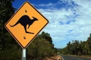 Verkehrsschild in Australien