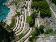 Der berühmte Serpentinenpfad Via Krupp auf Capri