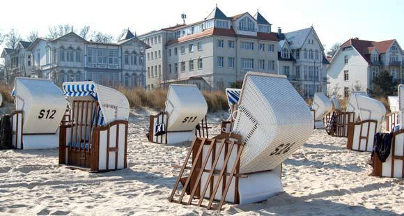 Strand im Seebad Bansin auf Usedom