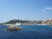 Malta: Der Fährhafen in Gozo