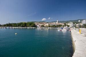 Promenade in Crikvenica-Kroatien
