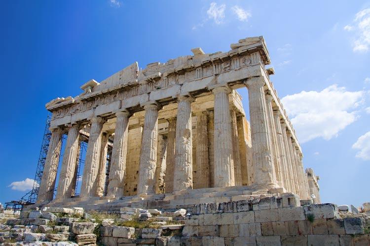 Die akropolis in athen griechenland