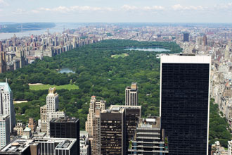 Blick auf den Central Park in New York City