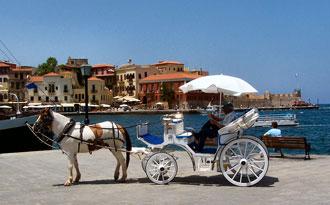 Im Hafen von Kreta