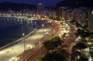 Rio de Janeiro: Copacabana bei Nacht