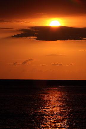 Sonnenuntergang am Diani Beach