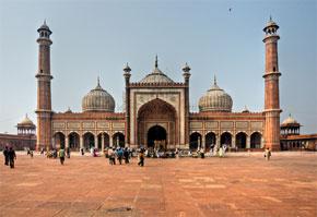 Jamia Masjid-Moschee in Delhi