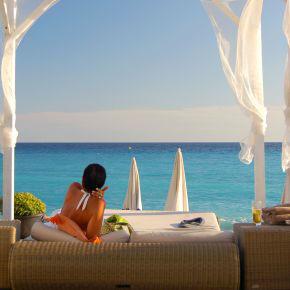 Mauritius: Blick auf das Meer.