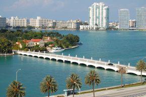 Brücke von Miami Beach zum Festland