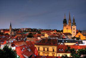Blick über die Altstadt von Zagreb