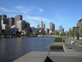 Der Yarra River in Melbourne