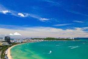 Blick auf den Pattaya Beach
