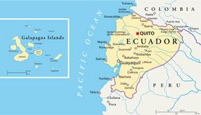 Karte von Ecuador und den Galapagosinseln