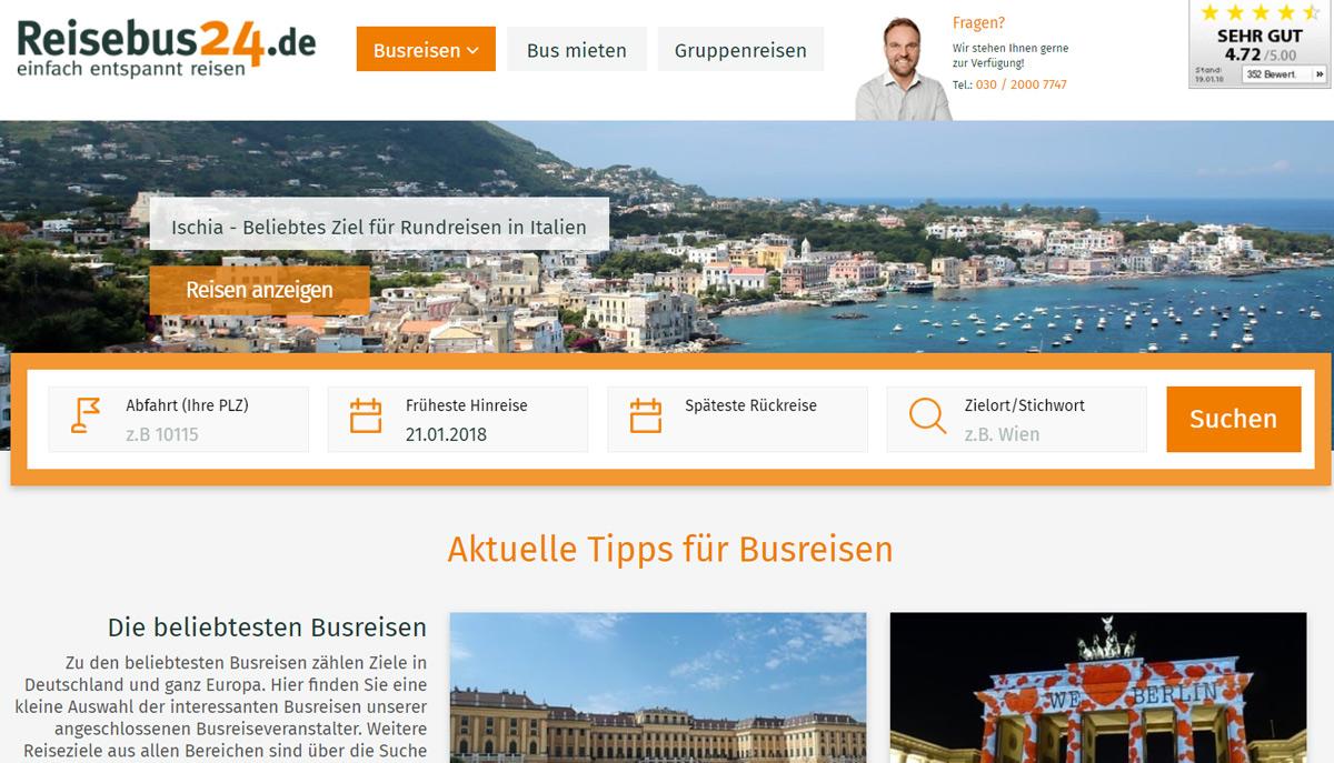 Bequeme Fahrt in den Urlaub: Der Bus macht es möglich