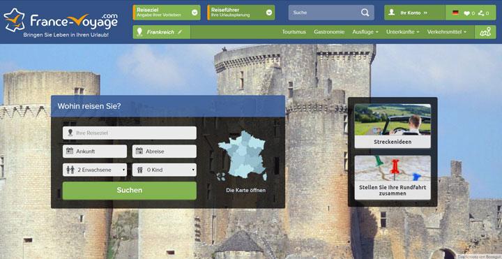 Die Webseite france-voyage.com