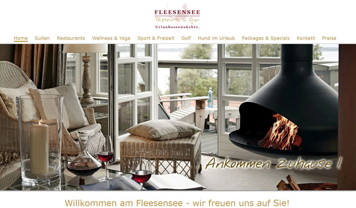 Webseite vom Fleesensee Resort & SPA